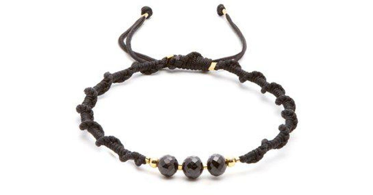Sterling-silver and cord bracelet Black Dakini JVSXjU