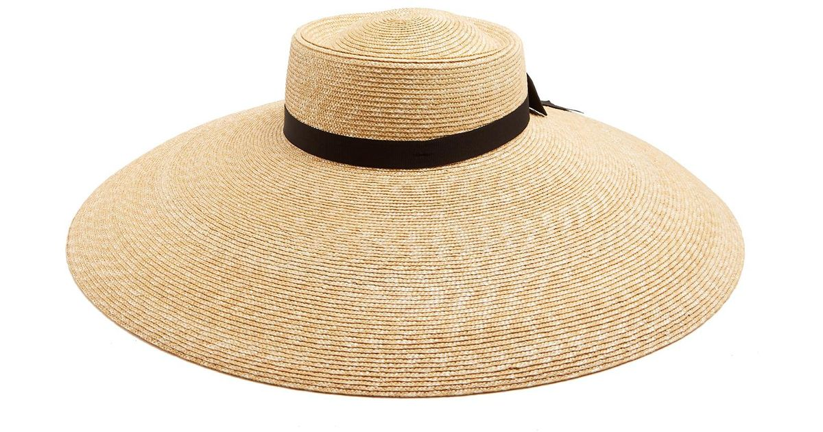 3e417d22d01 Lyst - Gucci Wide-brim Straw Hat in Natural