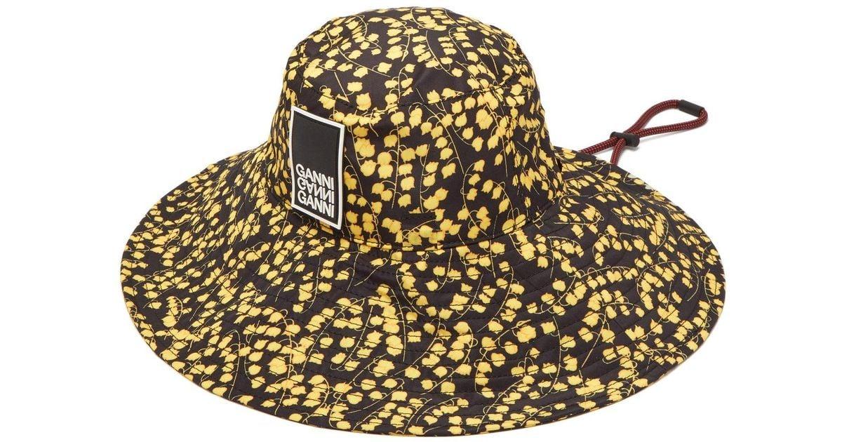 d81d903e8cdb Ganni Floral Hat in Black - Lyst