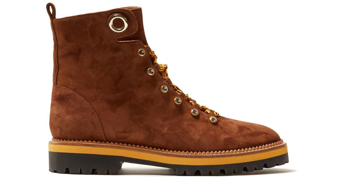 Hiker tread-sole leather ankle boots Aquazzura Buy Cheap Wide Range Of xKYF2