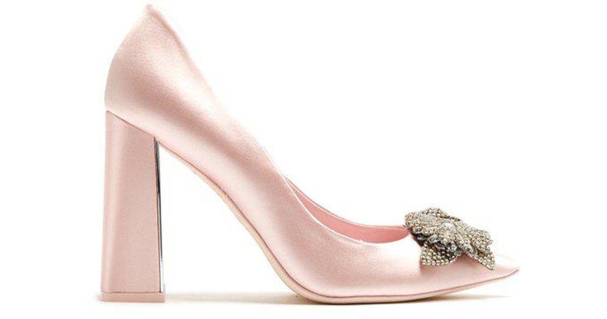 f441a34c4e6 Sophia Webster - Pink Lilico Crystal-embellished Satin Pumps - Lyst