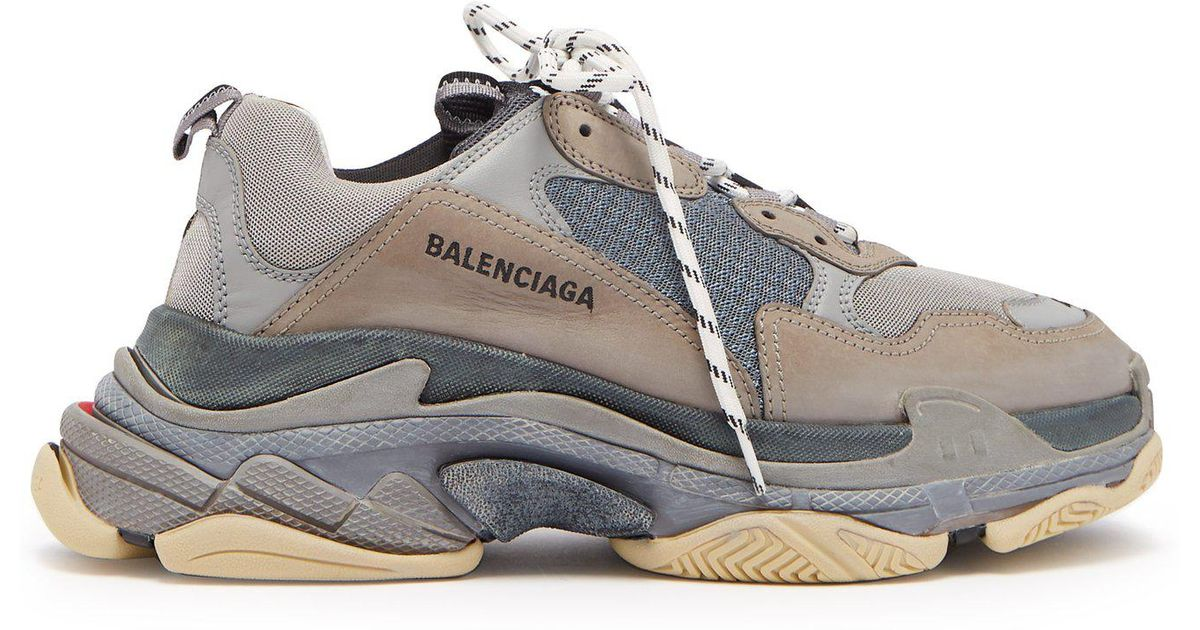 037ab474ef5ae Lyst - Balenciaga Triple S Trainer Sneakers in Gray for Men
