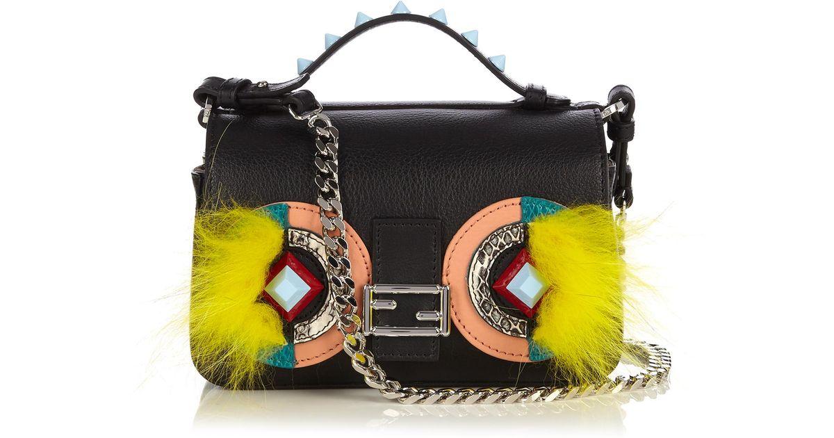 Fendi Double Micro Baguette Bag Bugs Cross-Body Bag - Lyst 42c5f9fd4a