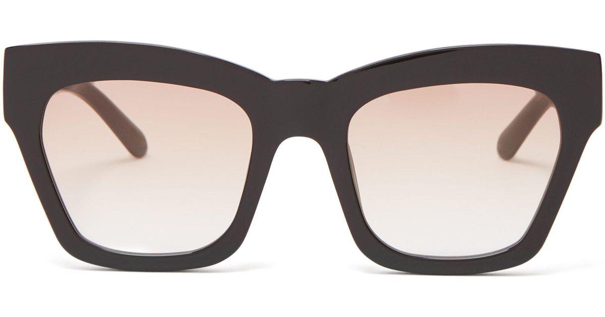 0c3789ec9b Karen Walker Treasure Acetate Cat-eye Sunglasses in Black - Lyst