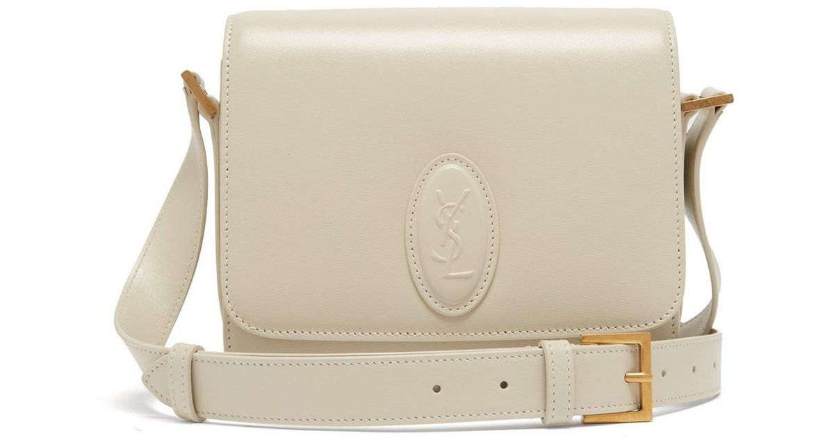 12866974f9 Saint Laurent Le 61 Leather Cross Body Bag in White - Lyst