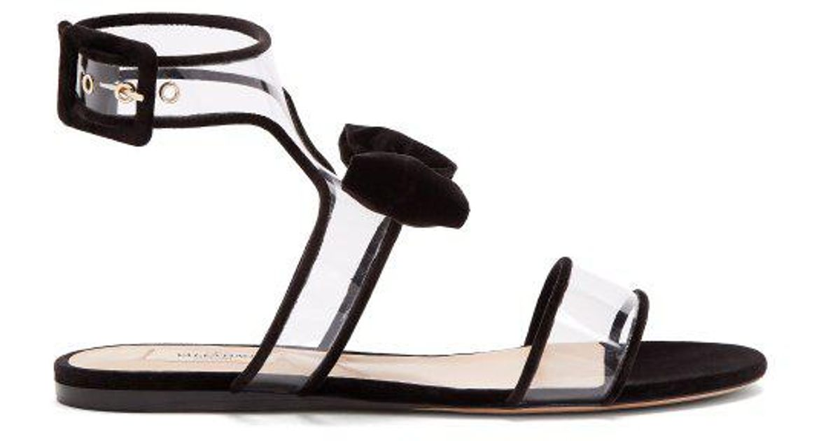 a4ccefbed1bc Lyst - Valentino Dollybow Sandals in Black
