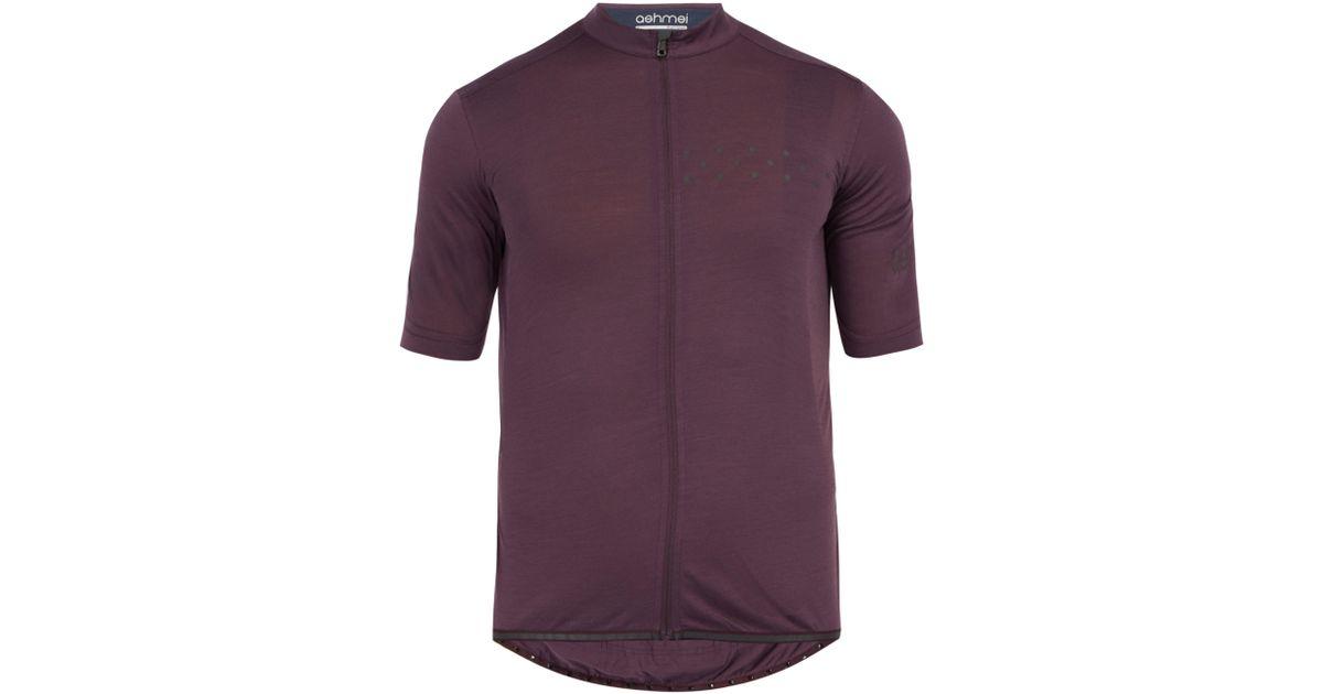 Ashmei Kom Merino Wool Blend Cycling Jersey in Purple for Men - Lyst 2cd580ad0