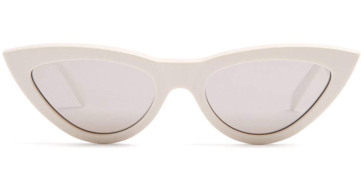 c048842d990 Lyst - Céline Cat-eye Acetate Sunglasses in White