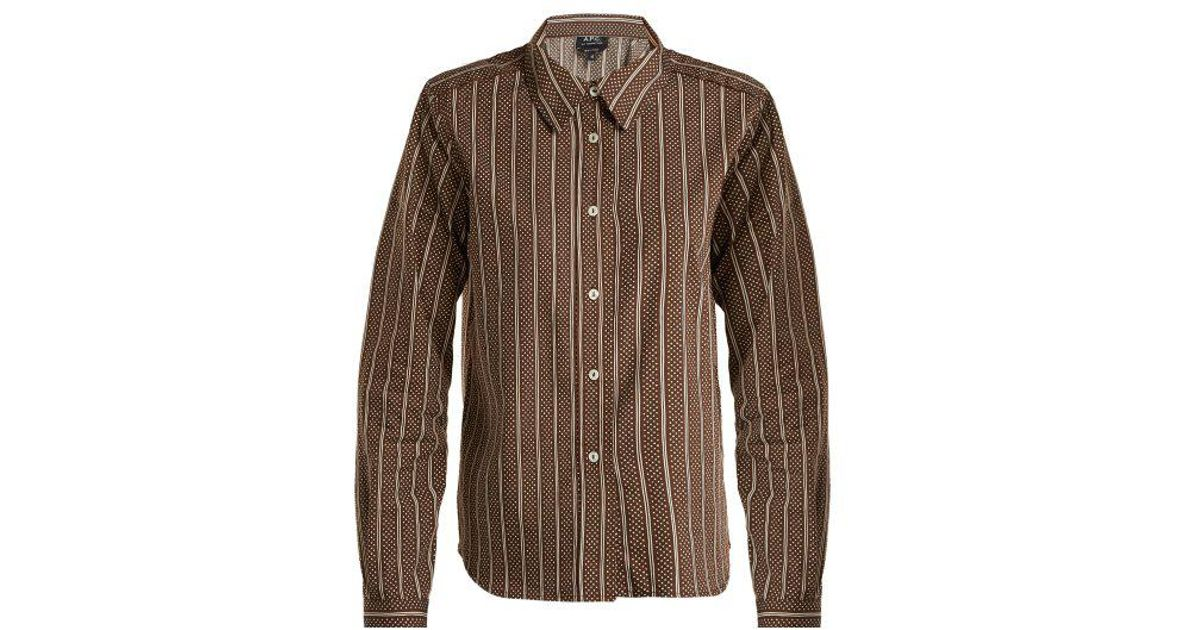 Mike cotton and silk-blend shirt A.P.C. Outlet Very Cheap 4XctUh42