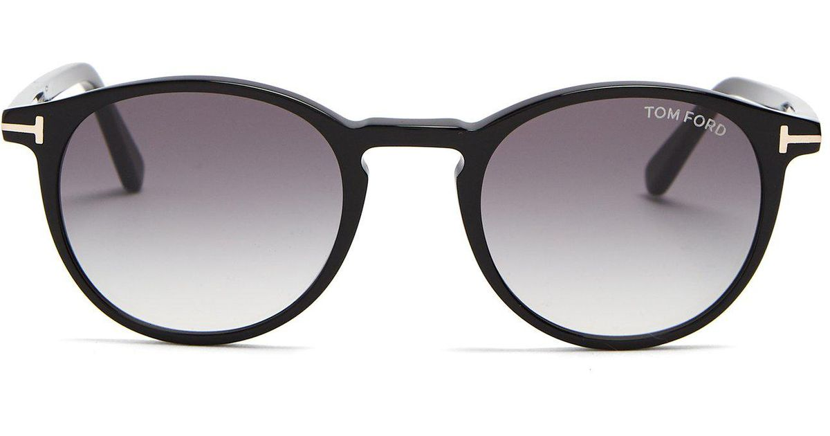 2cce8b56fed Lyst - Tom Ford Eric Round Frame Sunglasses in Black for Men