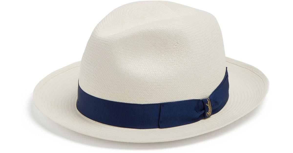 2b2bc7f10a Borsalino Fine Panama Hat in Blue for Men - Lyst