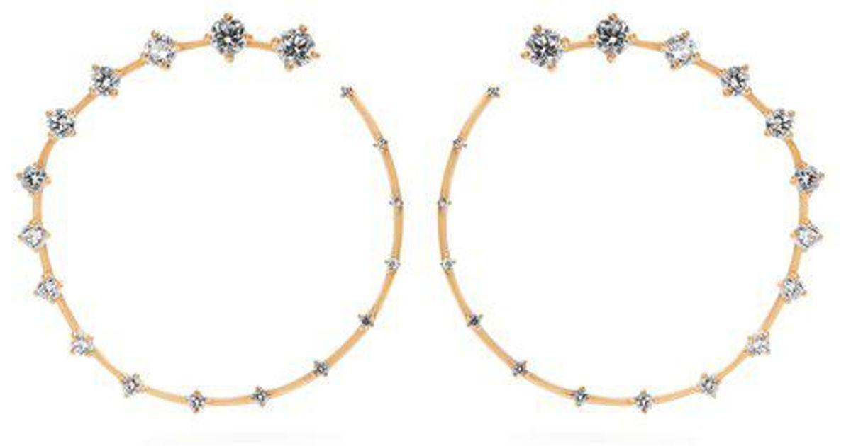 Fernando Jorge Circle Large 18kt gold & diamond earrings zrqPb