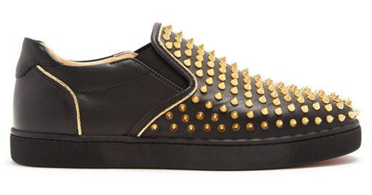 Sailor Boat stud-embellished slip-on trainers Christian Louboutin