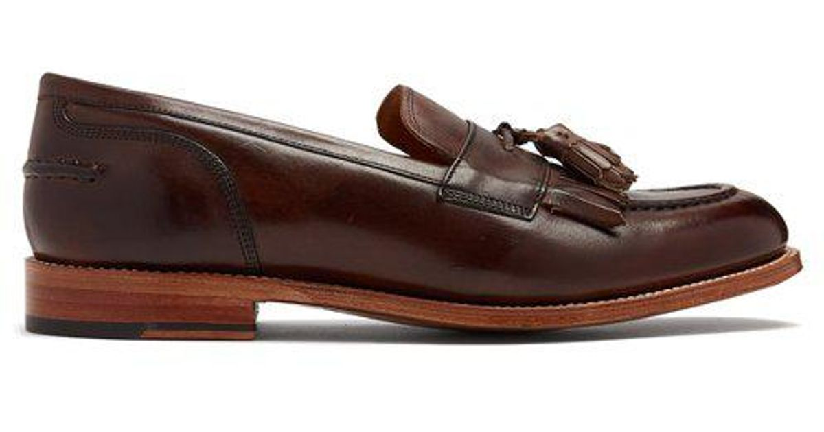 097648d6c7c Lyst - Grenson Mackenzie Leather Tassel Loafers in Brown for Men