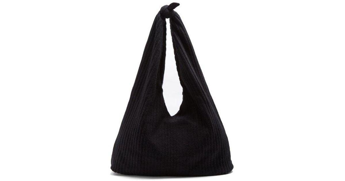 Bindle ribbed-knit shoulder bag The Row zi44S2hvj