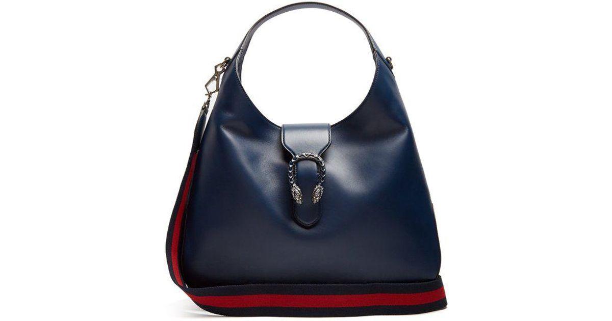 2bbc68cc642bd0 Gucci Dionysus Hobo Leather Shoulder Bag in Blue - Lyst