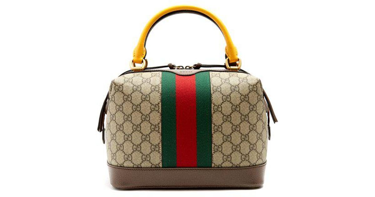 cc894a5f540 Lyst - Gucci Gg Supreme Canvas And Leather Bag in Brown