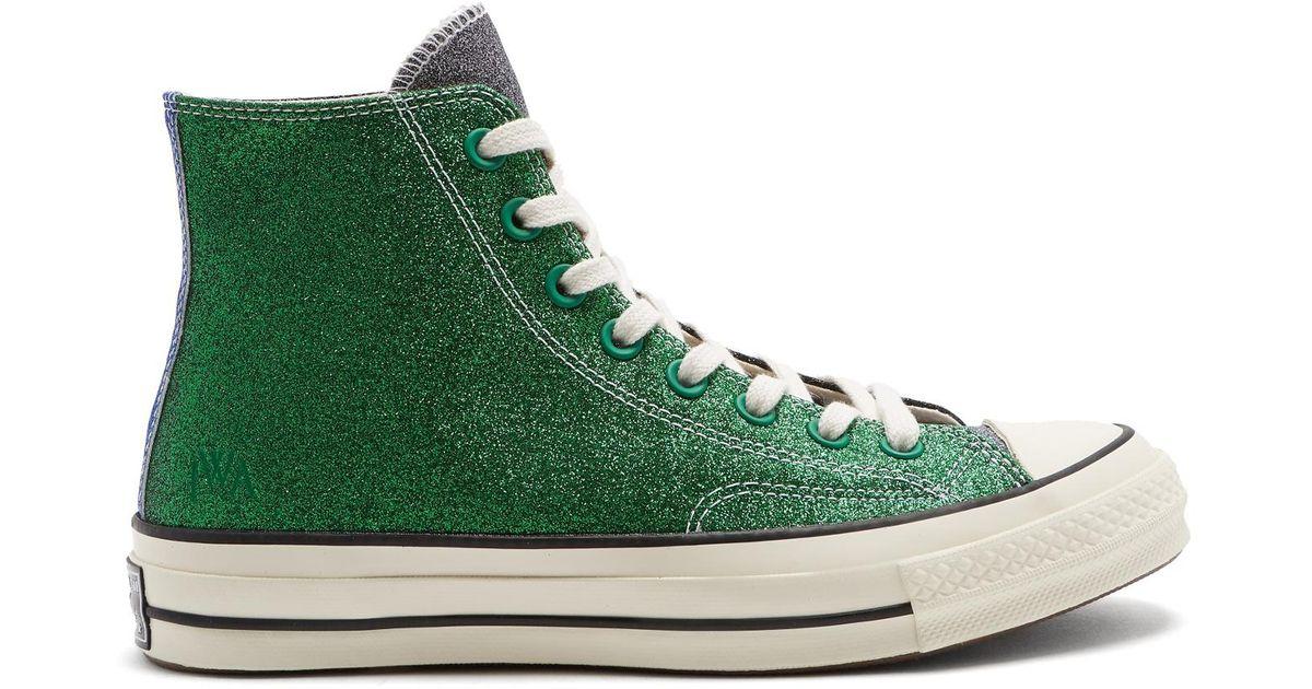 Converse Glitter High-top Trainers in Green - Lyst 749ac722a6