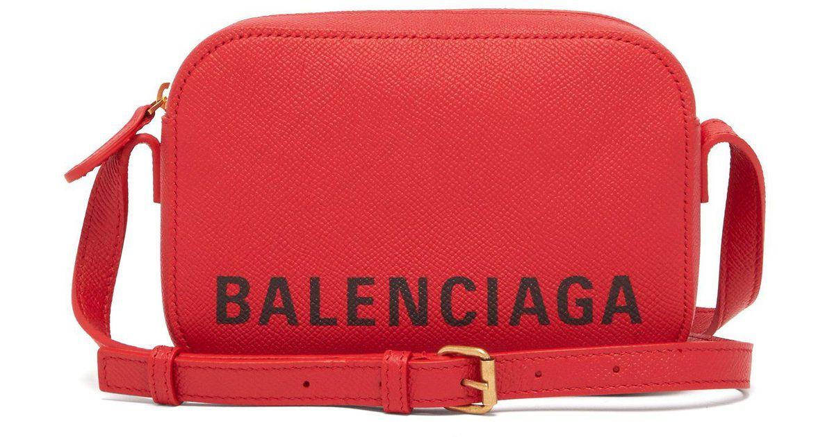 0e424e50c Balenciaga Ville Xs Leather Cross Body Bag in Red - Lyst