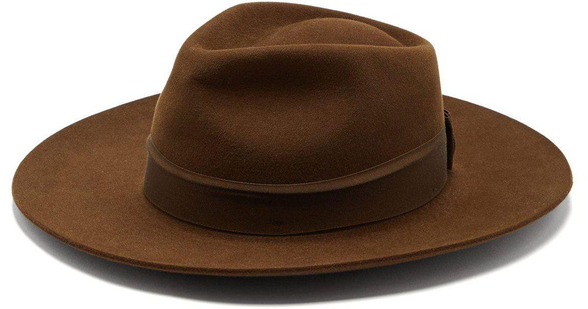 fa5c8df4d03 Lyst - Hillier Bartley X Lock   Co. Portobello Felt Fedora Hat in Brown