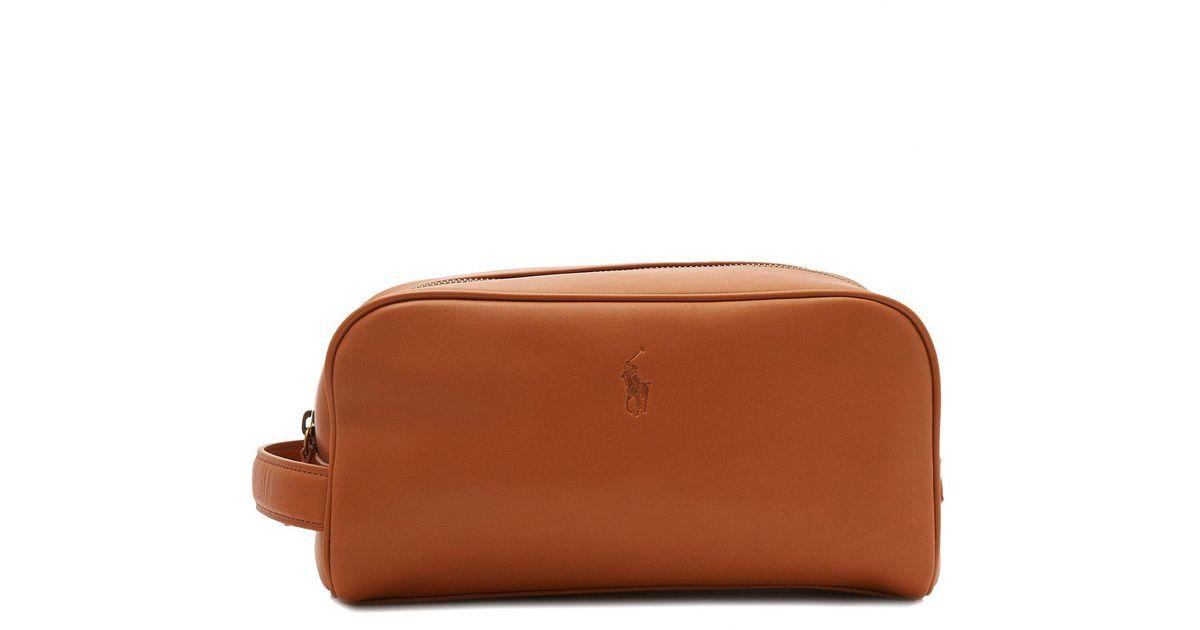 Lyst - Polo Ralph Lauren Logo Leather Belt for Men 2658ed9a7a350
