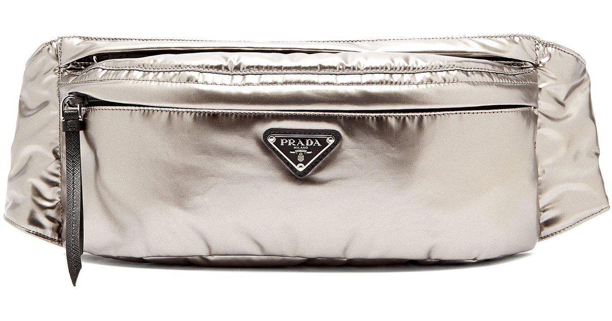 Logo Belt Logo Prada Prada Metallic Metallic Bag Bag Belt 6qw5axdWYx