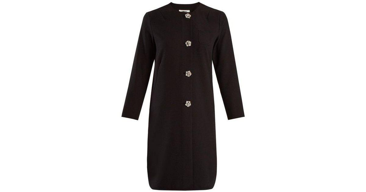 Collarless embellished-button stretch-crepe top Maison Martin Margiela Visit New Sale Online The Cheapest Cheap Online Recommend Cheap Online 1vYloRc