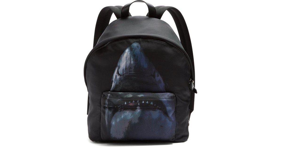 Lyst - Givenchy Shark-print Nylon Backpack in Black for Men 7bd21295d050a