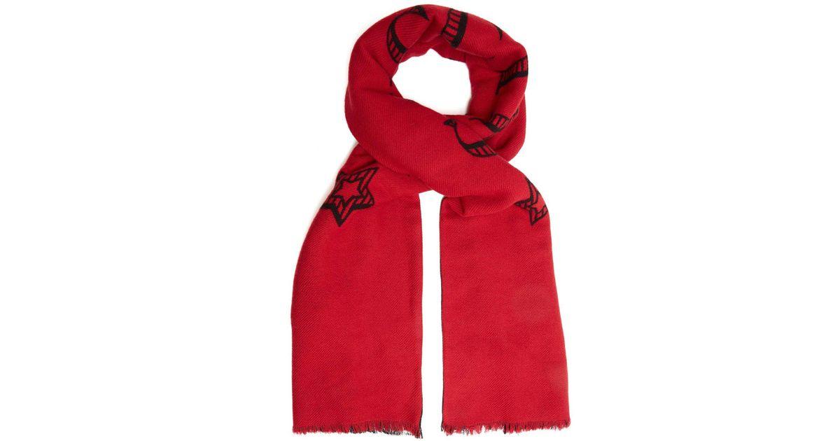 Lyst - Écharpe en maille jacquard Magnetismo Gucci pour homme en coloris  Rouge e42756e99be