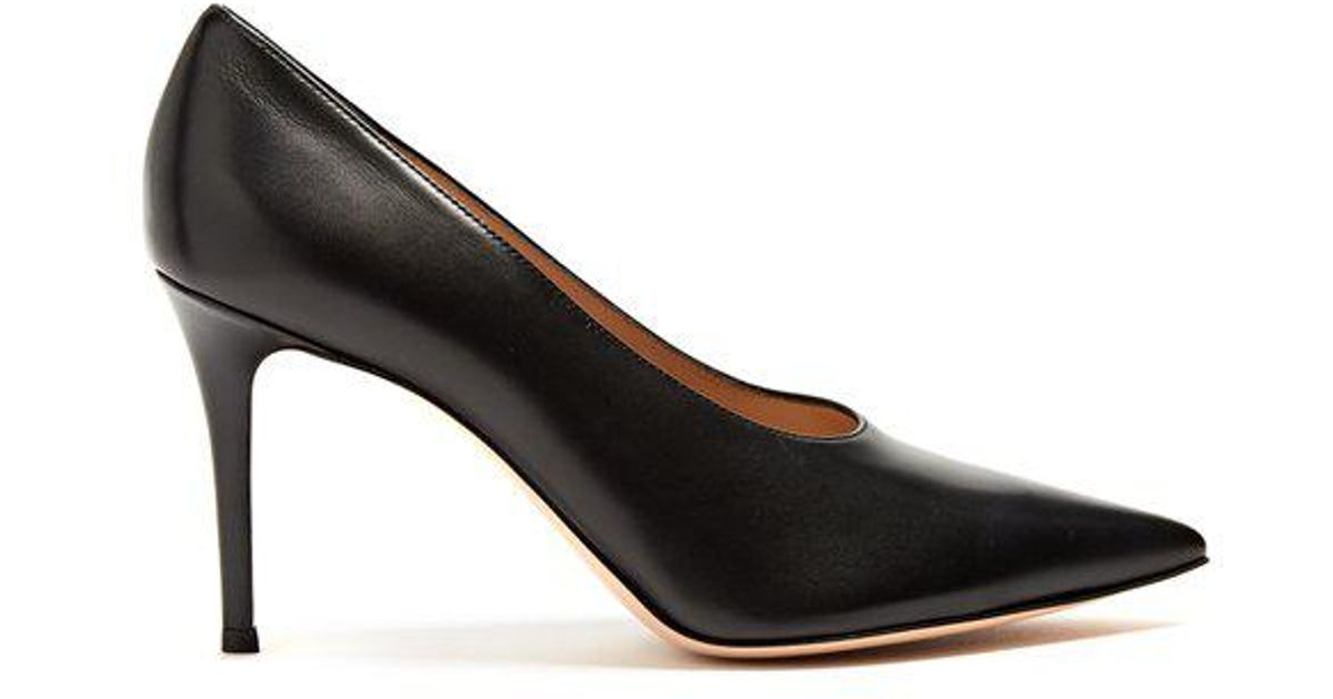 Muriel 85 high-cut point-toe leather pumps Gianvito Rossi N5Nby67jkV