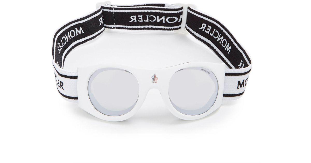 7f4d6129828 Lyst - Moncler Round-frame Ski goggles in White for Men