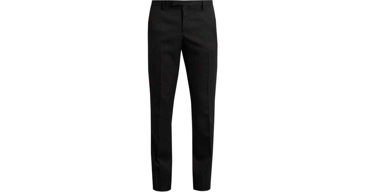 b03b4fcdd95 Saint Laurent Le Smoking Grain De Poudre Tuxedo Trousers in Black for Men -  Lyst