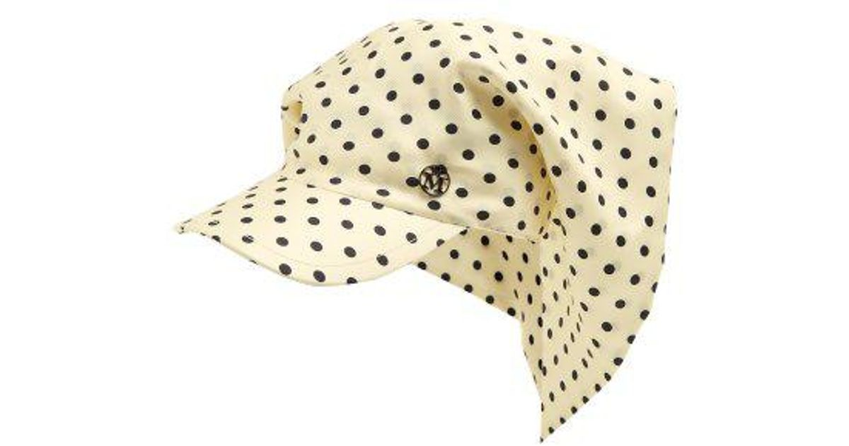 Dyna polka-dot silk cap Maison Michel LRoQo