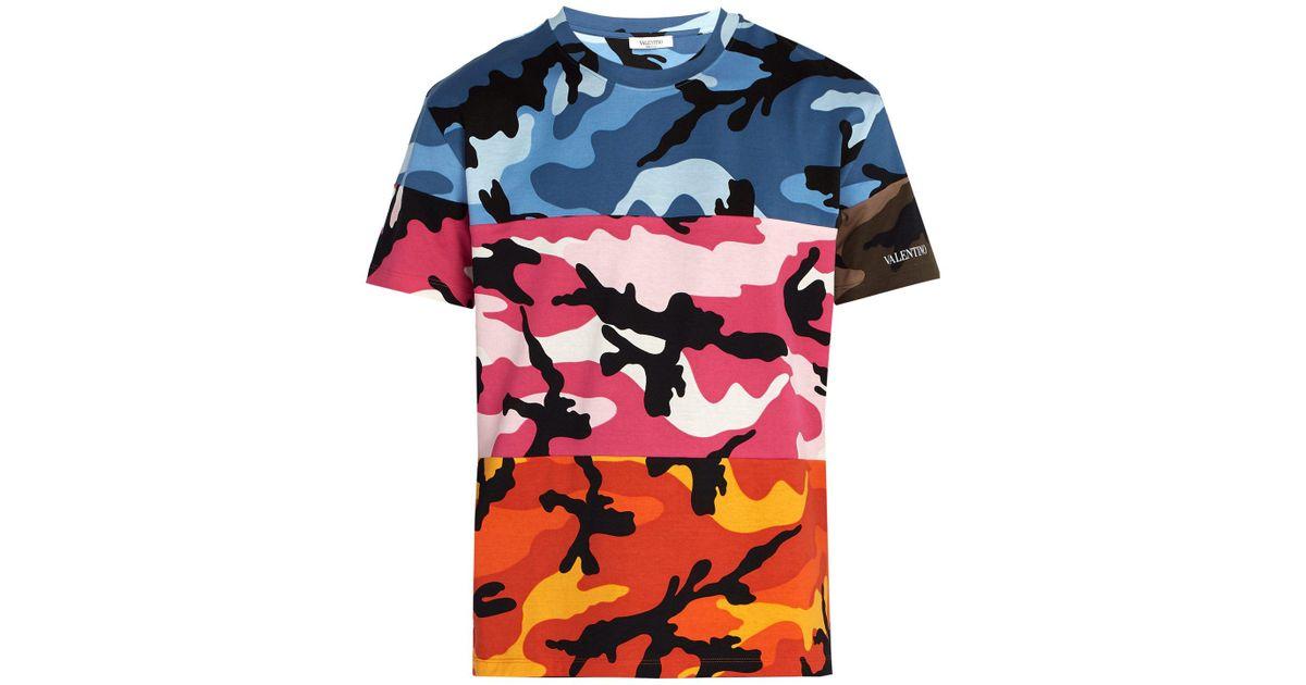 14313ef7e Valentino Multi Camouflage Cotton T-shirt for Men - Lyst