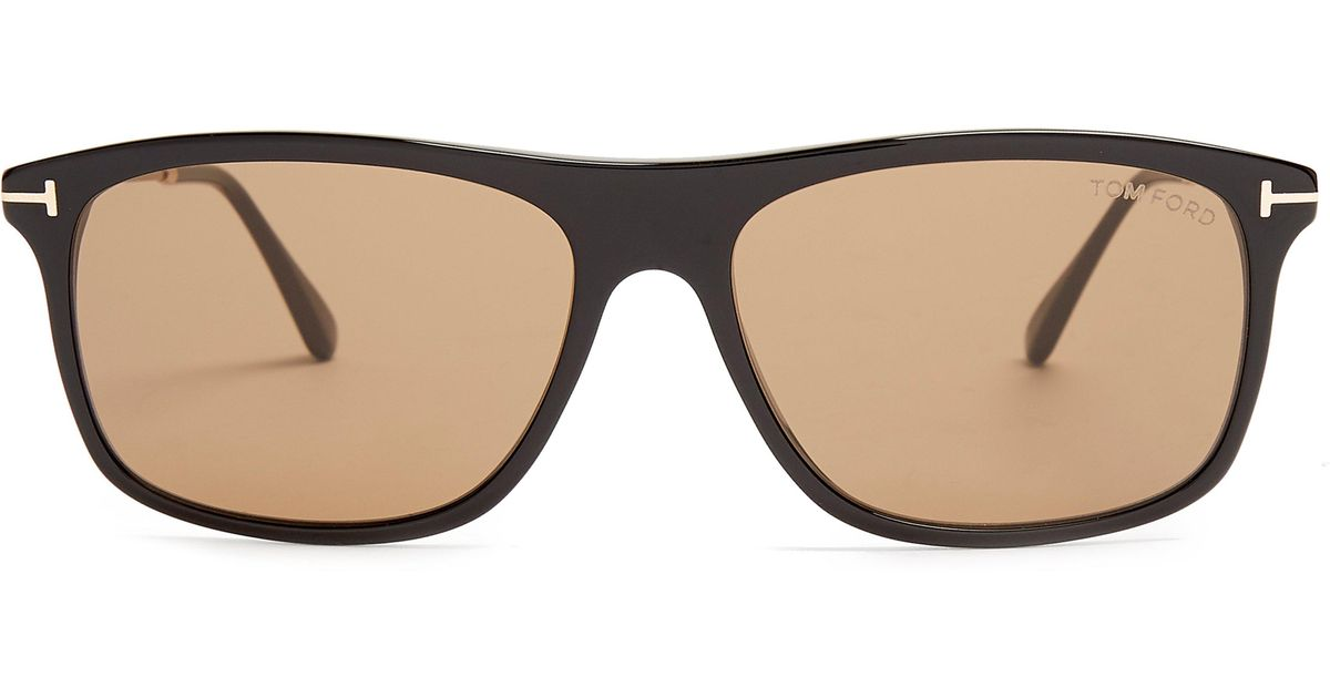 c3f9617add6b Tom Ford Eric Rectangle Frame Sunglasses in Brown for Men - Lyst