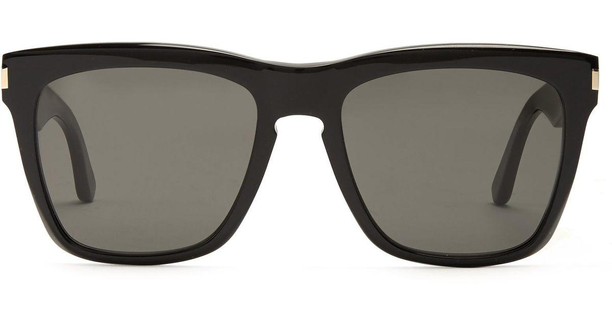Lyst - Saint Laurent Devon D-frame Acetate Sunglasses in Black for Men