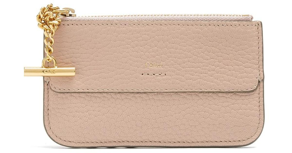lyst chlo drew leather coin purse and cardholder in pink - Chloe Card Holder