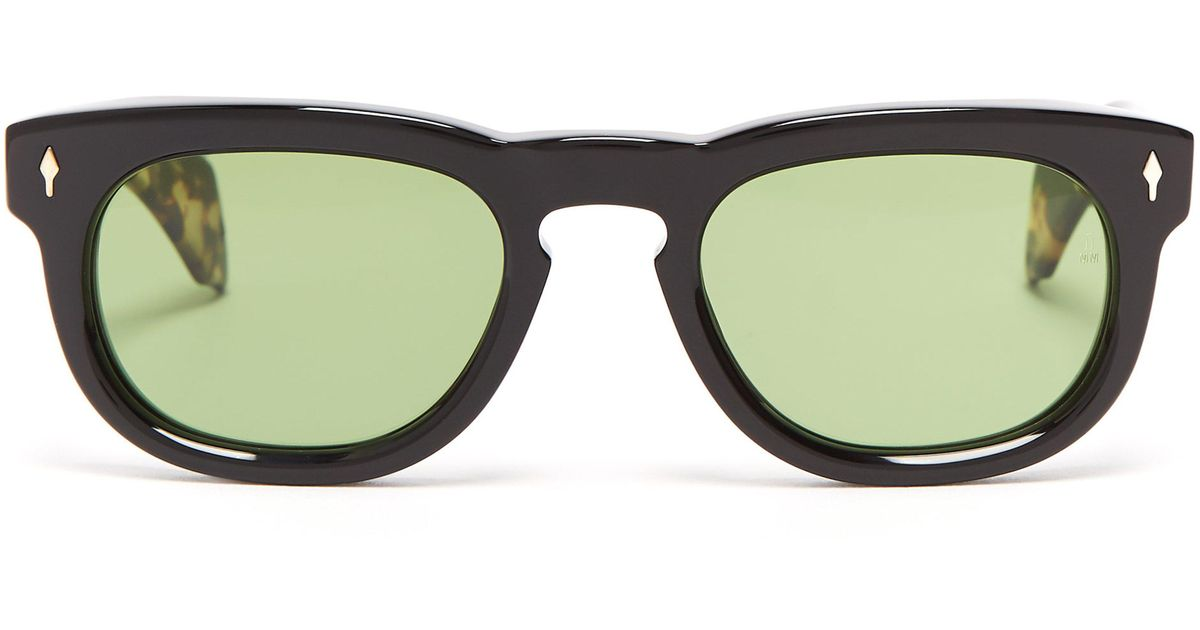 5b3e642f7bf Jacques Marie Mage The Pepper Round-frame Acetate Sunglasses in Black for  Men - Lyst