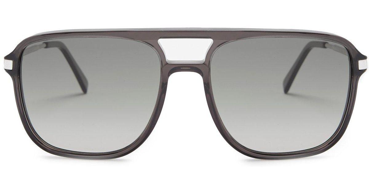 34f011c275a8a Céline Navigator Acetate Sunglasses in Black - Lyst