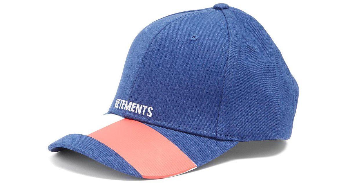 Lyst - Vetements X Reebok Sunday Cap in Blue for Men a52e07e95c6a