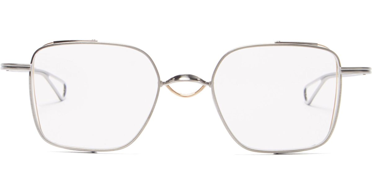 f283f2fecca Dita Eyewear Linetto Square Frame Metal Glasses in Metallic for Men - Lyst