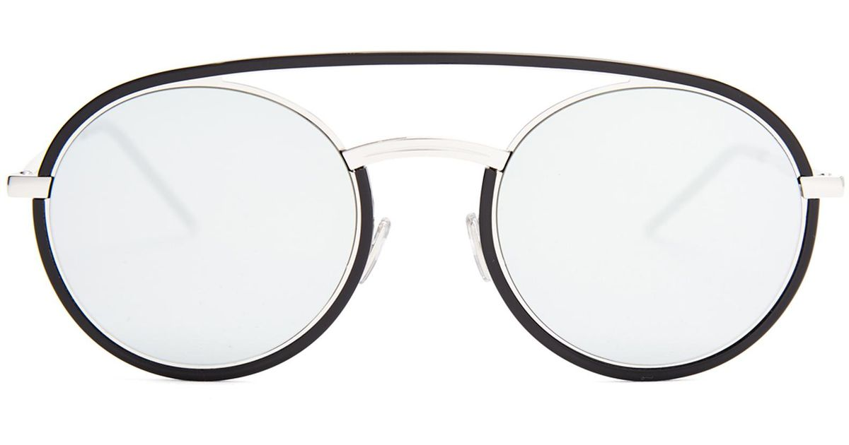28b343bc11e43 Dior Homme Synthesis 01 Round-frame Mirrored Sunglasses for Men - Lyst