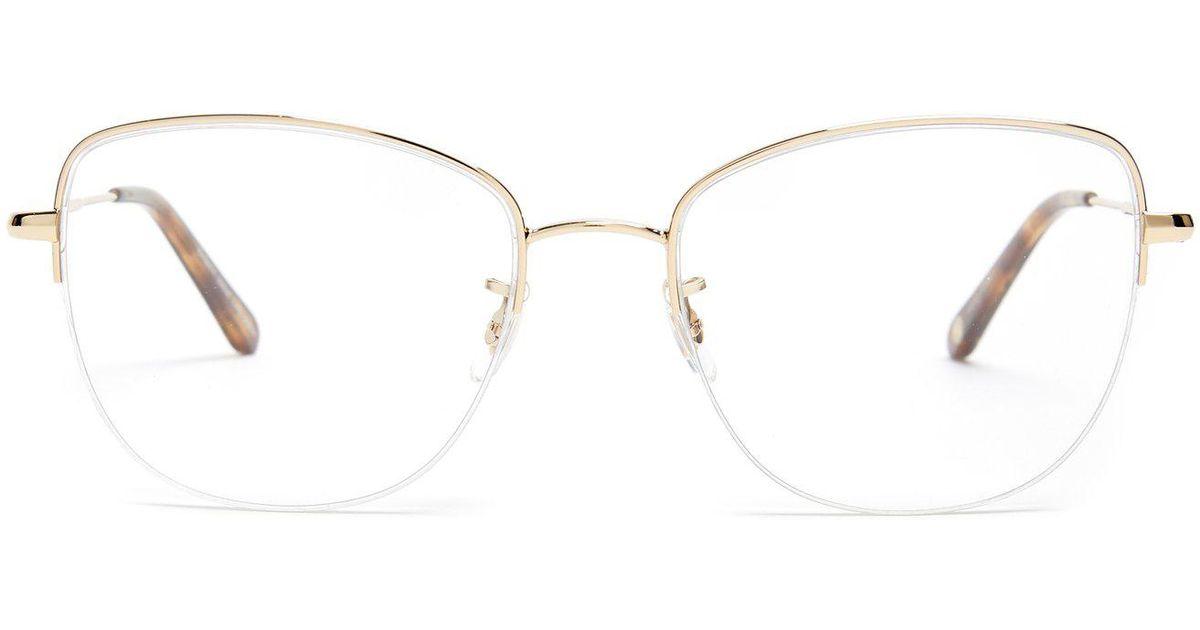 add078a1289 Lyst - Garrett Leight Pershing 54 Square Frame Glasses