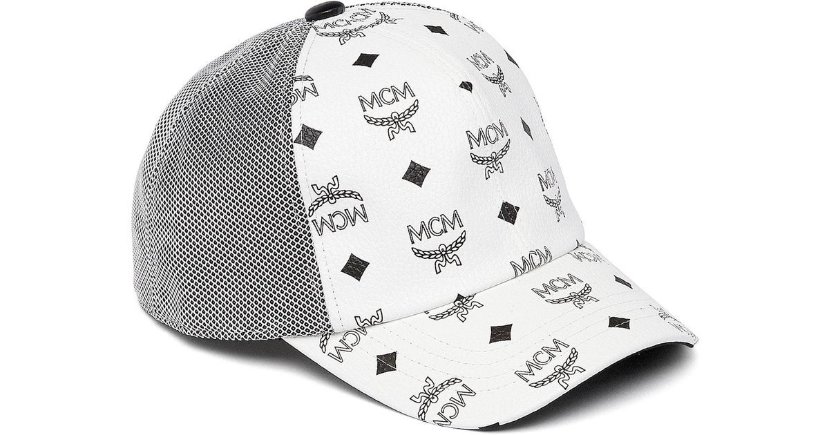 reduced mcm bucket hat amazon review 91515 c1a11  czech lyst mcm classic  mesh cap in visetos in white save 3.8461538461538396 3d26e a6fc7 cec37a5971c