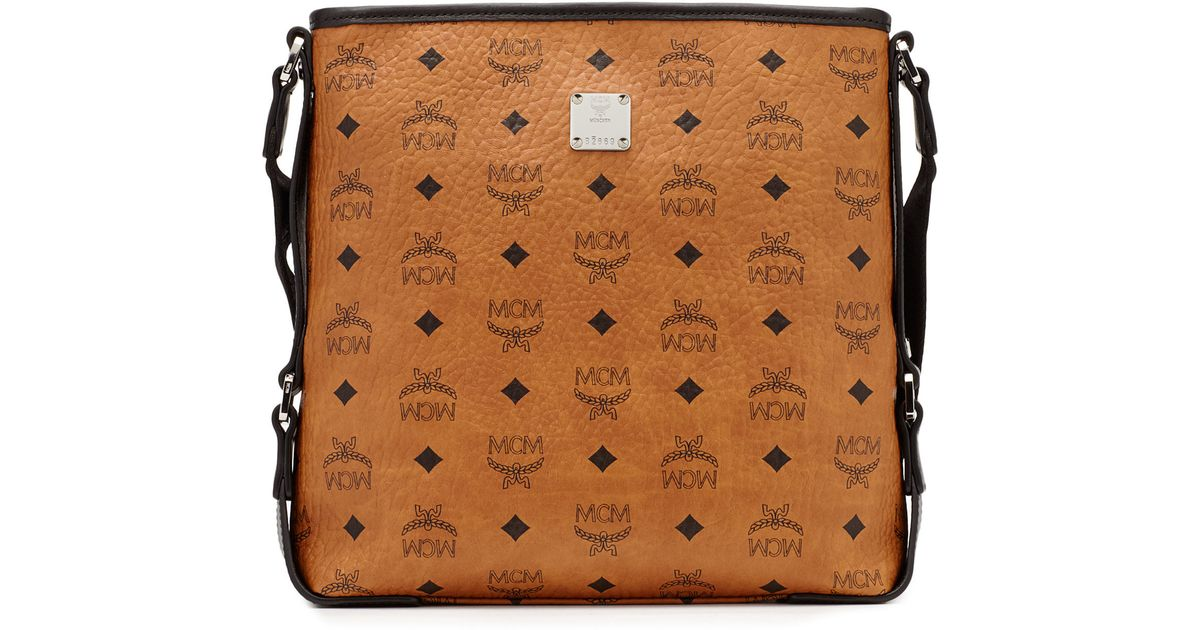 73dad0fb613 Lyst - MCM Color Visetos Messenger in Brown for Men