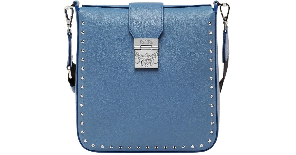Mcm Kasion Crossbody In Studded Outline in Blue - Lyst 5808b6a6477f6