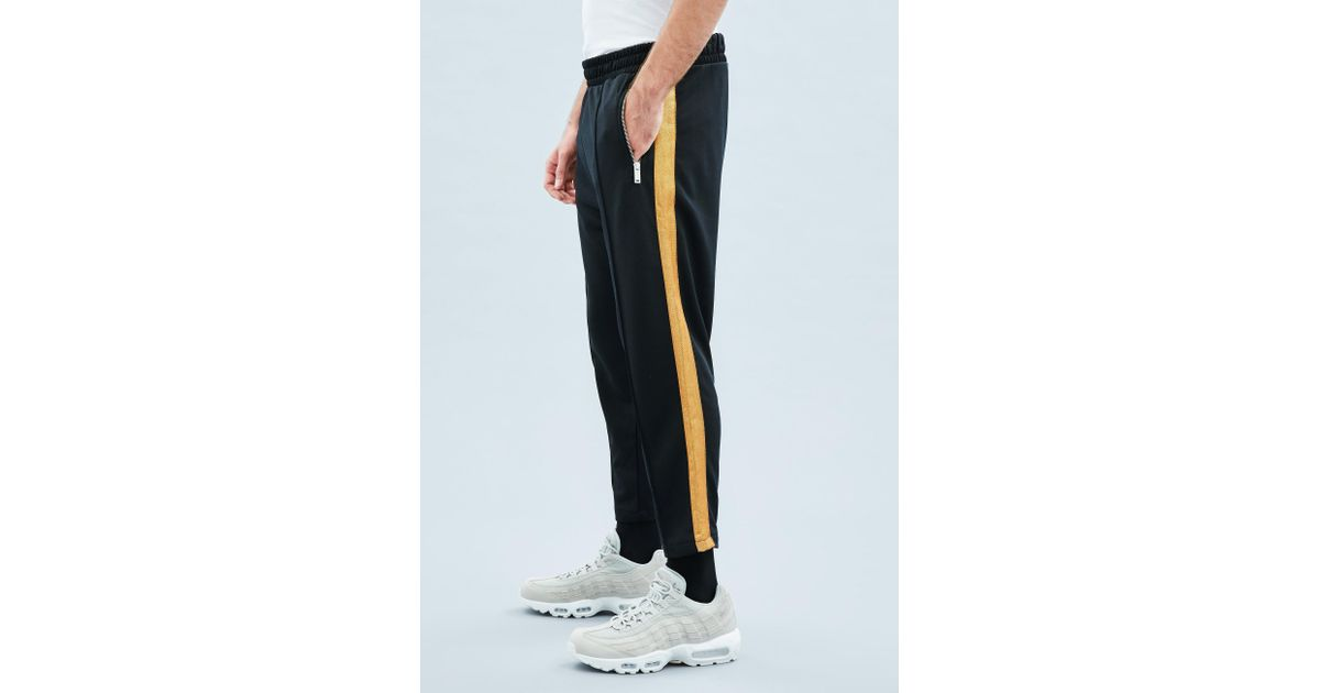 5ba1b0a7537b Mennace Navy Tricot Knit Gold Stripe Tracksuit Bottoms in Blue for Men -  Save 83% - Lyst