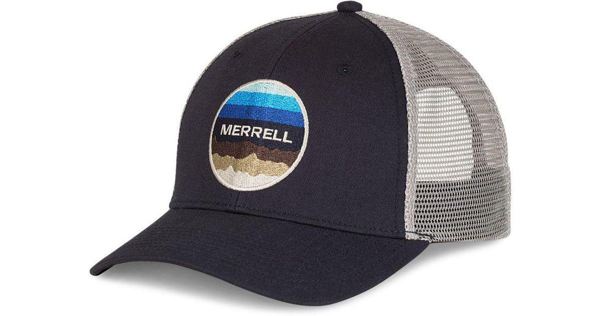 Lyst - Merrell Trailhead Trucker Cap in Blue for Men 3de2b1a1e62