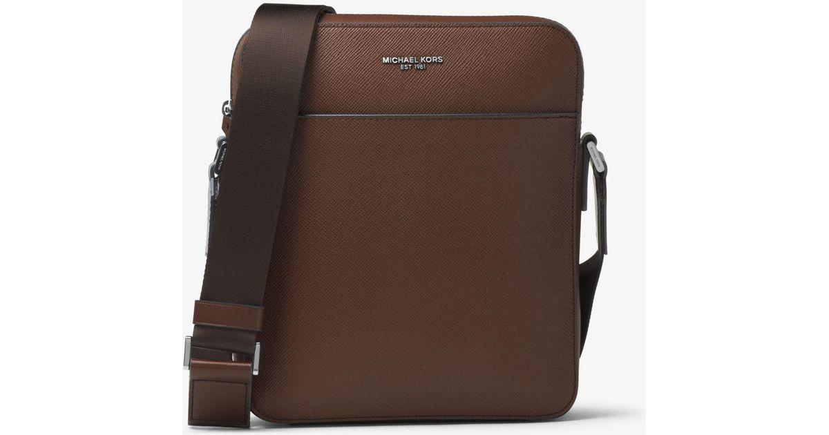 76e1833daa13 Michael Kors Harrison Medium Leather Flight Bag for Men - Lyst