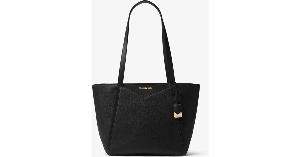 24816f30fda65 Michael Kors Whitney Small Pebbled Leather Tote in Black - Lyst